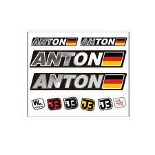 """Anton"" Auto Fahrrad Motorrad Kart Helm Fahrername Aufkleber Sticker Flagge"