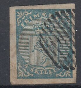Norway 1855 4sk Blue SG 1 fine used