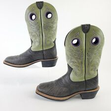 Ariat Men's Size 10.5 Heritage Roughstock WST Green Reptile Leather Cowboy Boots