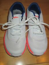 Girl's White Blue Champions Athletic Shoes Sneakers Size 3 1/2
