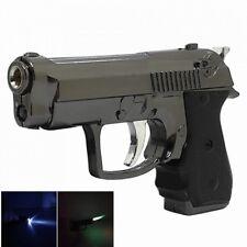 Gun Style Windproof Metal Butane Jet Gas Lighter - Black