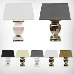 Keramik Lampen Tischlampe Tischleuchte Keramiklampe Lampe Hochglanz Shabby Chic