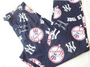 New York Yankees Lounge / Sleep Pants Men's Size Medium 100% Cotton