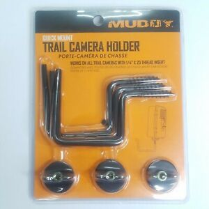 """MUDDY Screw in Quick Mount Trail Camera Holder with 1/4""""x20 thread insert 3 pack"""