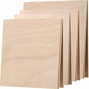 12 Pieces Unfinished Wood Rectangle Cutout Blank Plaques Wooden For Painting DIY