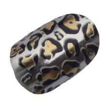 Silver Jaguar Animal Print Nail Wraps - Full Sheet 22 Vinyl Salon Quality Decals