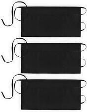 Waist Aprons 3 Pockets Waitress Server Waiter Apron for Women Men Black 3 Pack