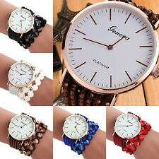 Women's Crystal Flower Dress Cuff Bracelet Quartz Bangle Wrist Watch Sera Dyxl