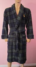 NWT Men's Polo Ralph Lauren Plush Shawl Collar Robe Tartan Plaid One Size