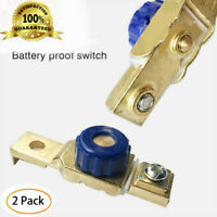 2*Car Motorcycle Disconnect Battery Cut Off Kill Terminal Anti-leakage Switch