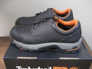 NIB! TIMBERLAND PRO Black STOCKDALE Oxford Alloy Safety Toe Shoes Sz 12M