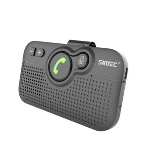 Handsfree Bluetooth V5.0 Visor Car Speakerphone Rechargeable Voice Guidances