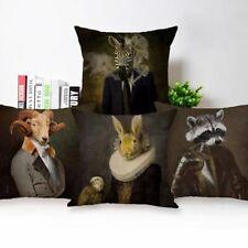 IMPRESSIVE Cushion Covers Animal Head Human Body Classic Portrait Pillow Case