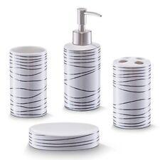 Zeller 18250 Set 4 Accessori da bagno in ceramica colore Bianco