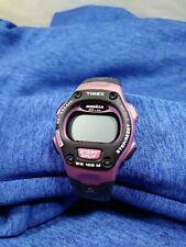 Timex Ironman Triathlon Indiglo Digital WR100 Purple/Black needs battery