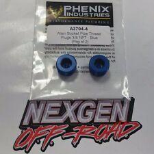 "3/8"" NPT Pipe Thread Allen Socket Plug BlUE Phenix Made in the USA (Pair) A3704"