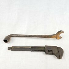 Antique Vintage FORD Script Wrenches Tools Monkey Wrench Lot of 2