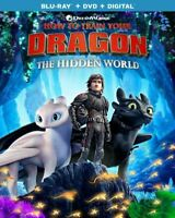 HOW TO TRAIN YOUR DRAGON THE HIDDEN WORLD BLU-RAY & DVD NO DC NEW FREE SHIPPING!