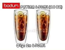IN BOX BODUM PAVINA DOUBLE WALL CLEAR THERMO-GLASSES x2 650ML/21 OZ (X-LARGE)