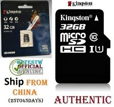 GENUINE Kingston 32GB Micro sd card TF Flash Memory MicroSd SDHC Class 10 REAL