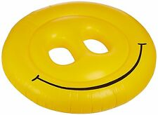 "Smiley Face Giant Smile inflatable pool float ride on 72"" Fun Island Swimline"