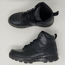 Nike 454350-003 ACG Manoa Black Leather Work Hiking Ankle Boots Men's US 6 EUC