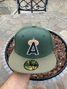 New Era Los Angeles Angels Green 7 Allstar Patch Not Hat Club Fitted GITD 🔥