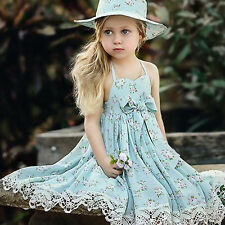 Toddler Kids Baby Girl Summer Casual Bowknot Princess Pageant Party Tutu Dresses