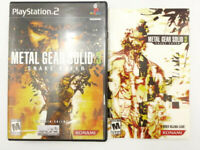 PS2 Playstation 2 Metal Gear Solid 3 Snake Eater CASE & MANUAL ONLY No Game Disc