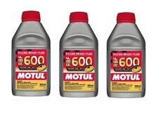Motul RBF 600 DOT 4 Racing Brake Fluid Fully Synthetic CAR & BIKE (Qty 3 x 0.5L)