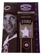 2004 Donruss Throwback Threads Century Stars Material #CS-4 Barry Larkin /50