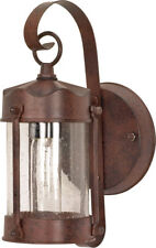 """Nuvo 1 Light 11"""" Wall Lantern Piper Lantern with Clear Seed Glass"""