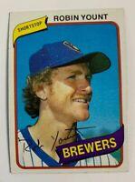 1980 Robin Yount # 265 Milwaukee Brewers Topps Baseball Card HOF