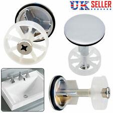 Chrome Plated Sink Waste Pop-Up Plug Bathroom Kitchen Push Button Basin 38MM UK