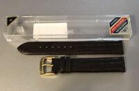 Speidel Brown Gator Grain Genuine Leather Mens 16mm Watch Band Reg NWT