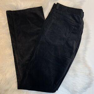 NWOT Chico's 0.5 Black Velvet Pants SIZE 6 Bootcut Stretch Pockets Lightweight