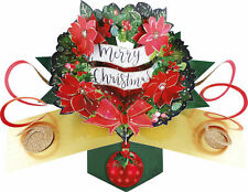 Wreath Pop-Up Christmas Greeting Card Second Nature 3D Pop Up Cards