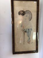 peinture érotique belle femme nue aquarelle originale signée Prostitué