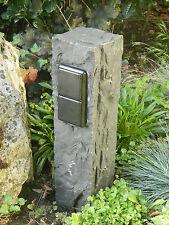 Doppelte Außensteckdose,Gartensteckdose aus Basalt, Naturstein, Markensteckdose