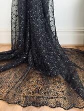 Black Tulle Fabric 58'' PRICE PER METER