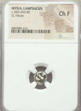 Mysia, Lampsacus Pegasus 1/6th Stater NGC Choice FINE Ancient Electrum Coin