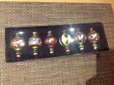 6 x DRESCHER Christbaumkugel Christbaumschmuck orientalisch Glas 7,4cm uvp 59,90