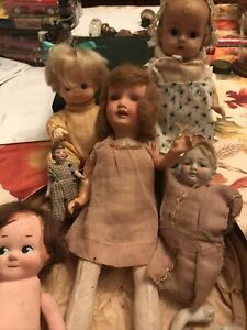 Lot Of Very Early Antique Dolls