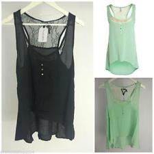 Markenlose taillenlange Damenblusen, - tops & -shirts ohne Muster