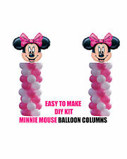 Minnie Mouse BIRTHDAY COLUMN Balloons Decorations Cake Gift Table Pink