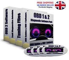 Professional OBD 1 & 2 II Diagnostic Software ECU Remapping PC CD 4 CDs