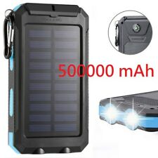 Waterproof 500000mAh Portable Solar Charger Dual USB Battery Power Bank BL