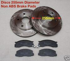 Toyota Estima Emina Lucida Front Brake Discs & Pad Kit Non ABS / 255mm Diameter