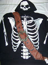 Disney Parks Men's Pirates Of The Caribbean Zip Up Hoodie NWT XL