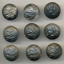 Estonian Army Cavalry Uniform Buttons 1920s RARE Set of 9